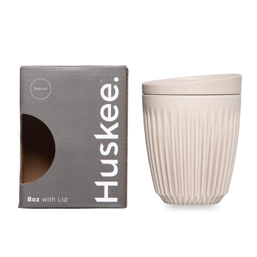 Huskee Cup & Lid - 8oz/24cl - Natural
