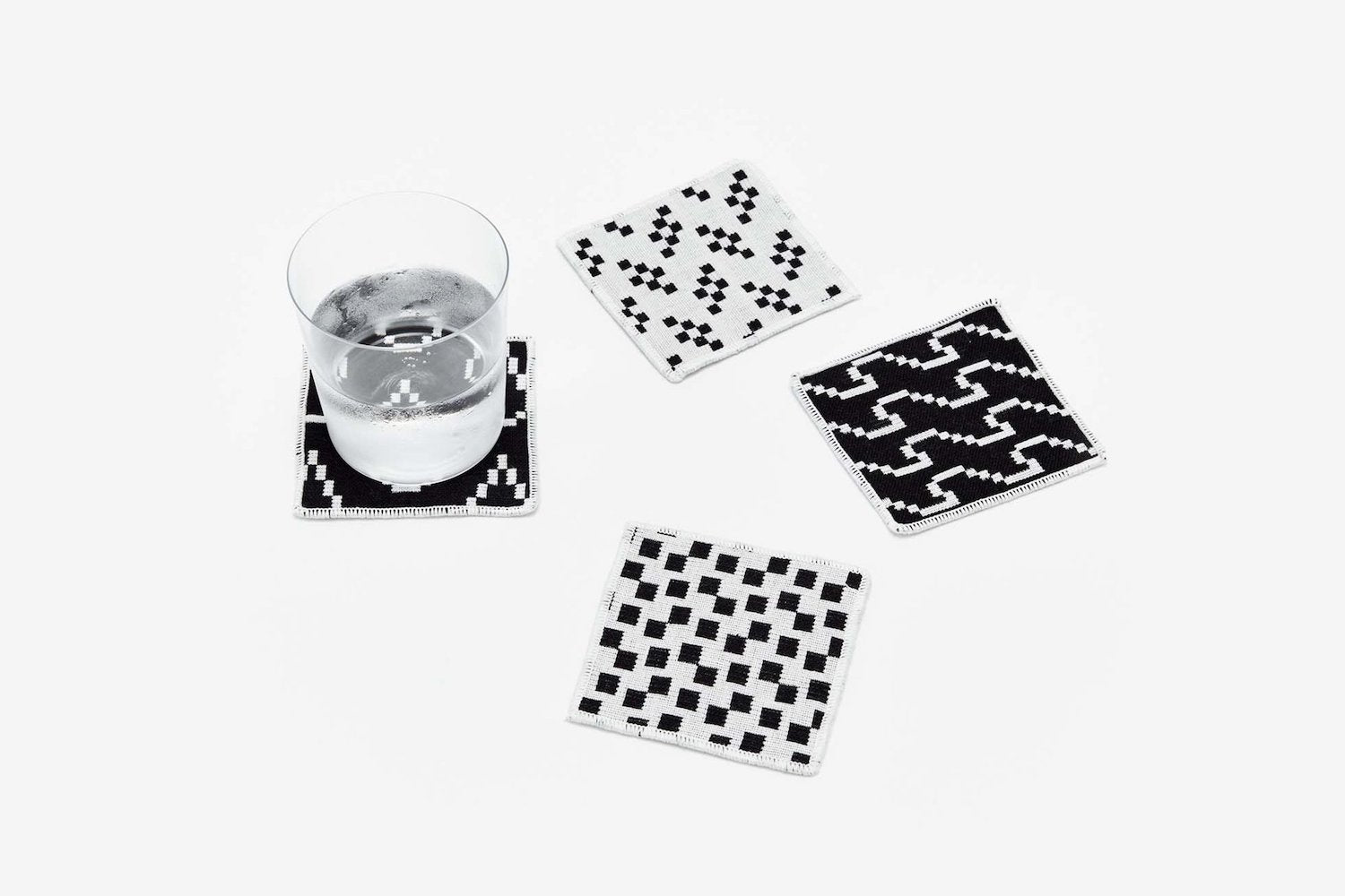 Coasters - Set of 4 - Black & White