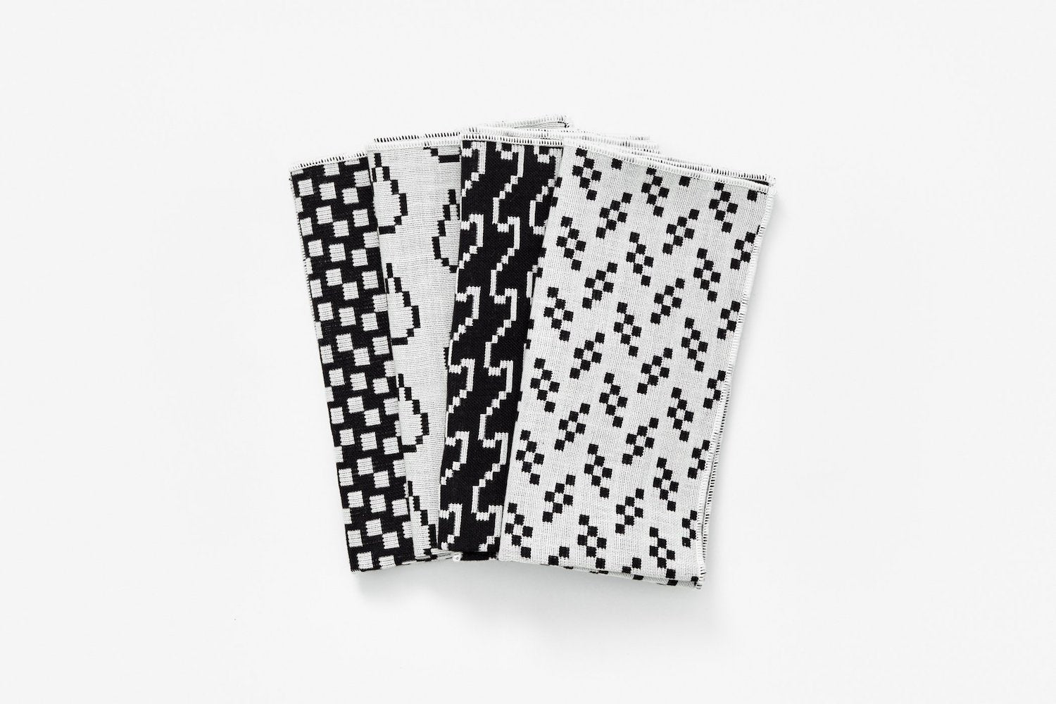 Napkins - Set of 4 - Black & White