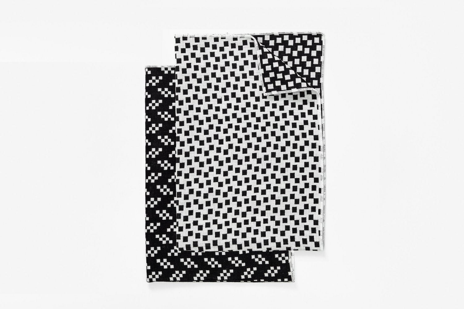 Tea Towels - Bits/Static - Set of 2 - Black & White