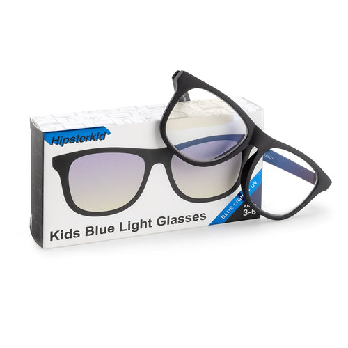 Hipsterkid Blue Light Blocking Glasses - Black (3-6 years)