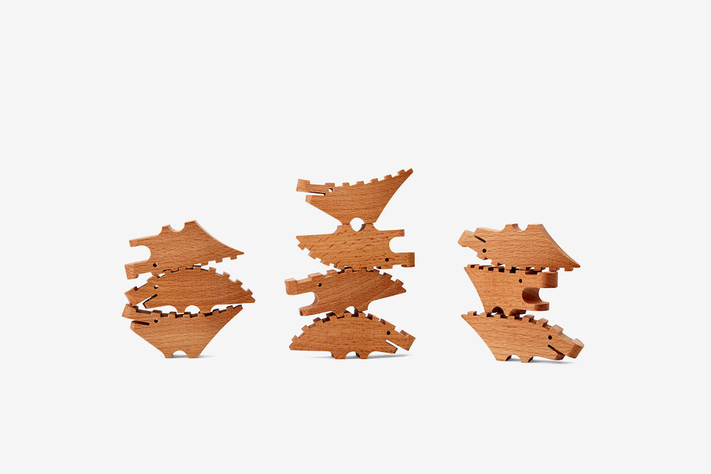 Croc Pile Mini - Natural - Set of 10
