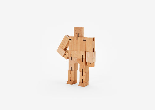 Cubebot - Small - Natural - POP Display 12 pieces