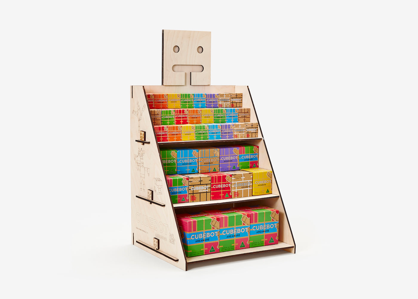 Cubebot - Wooden Display