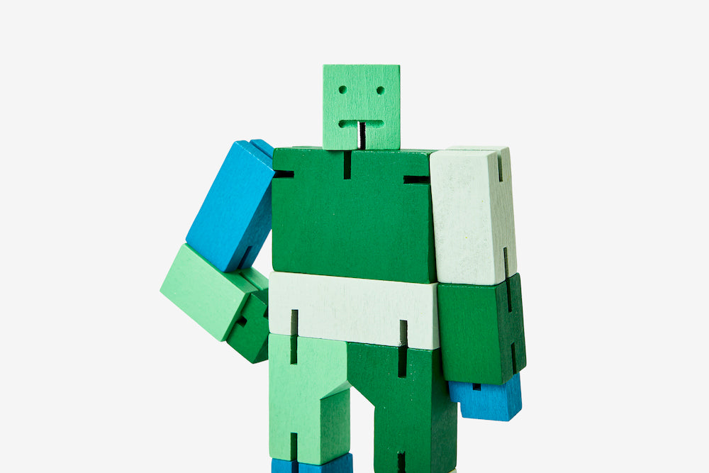Cubebot - Small - Green Multi