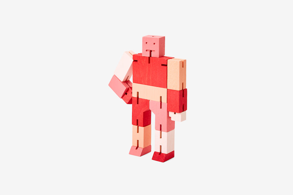 Cubebot - Small - Red Multi