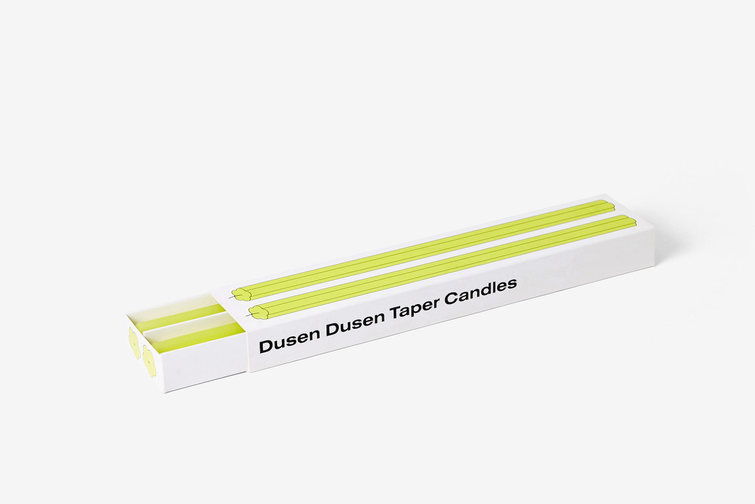 Dusen Dusen Taper Candles - Yellow - Set of 2