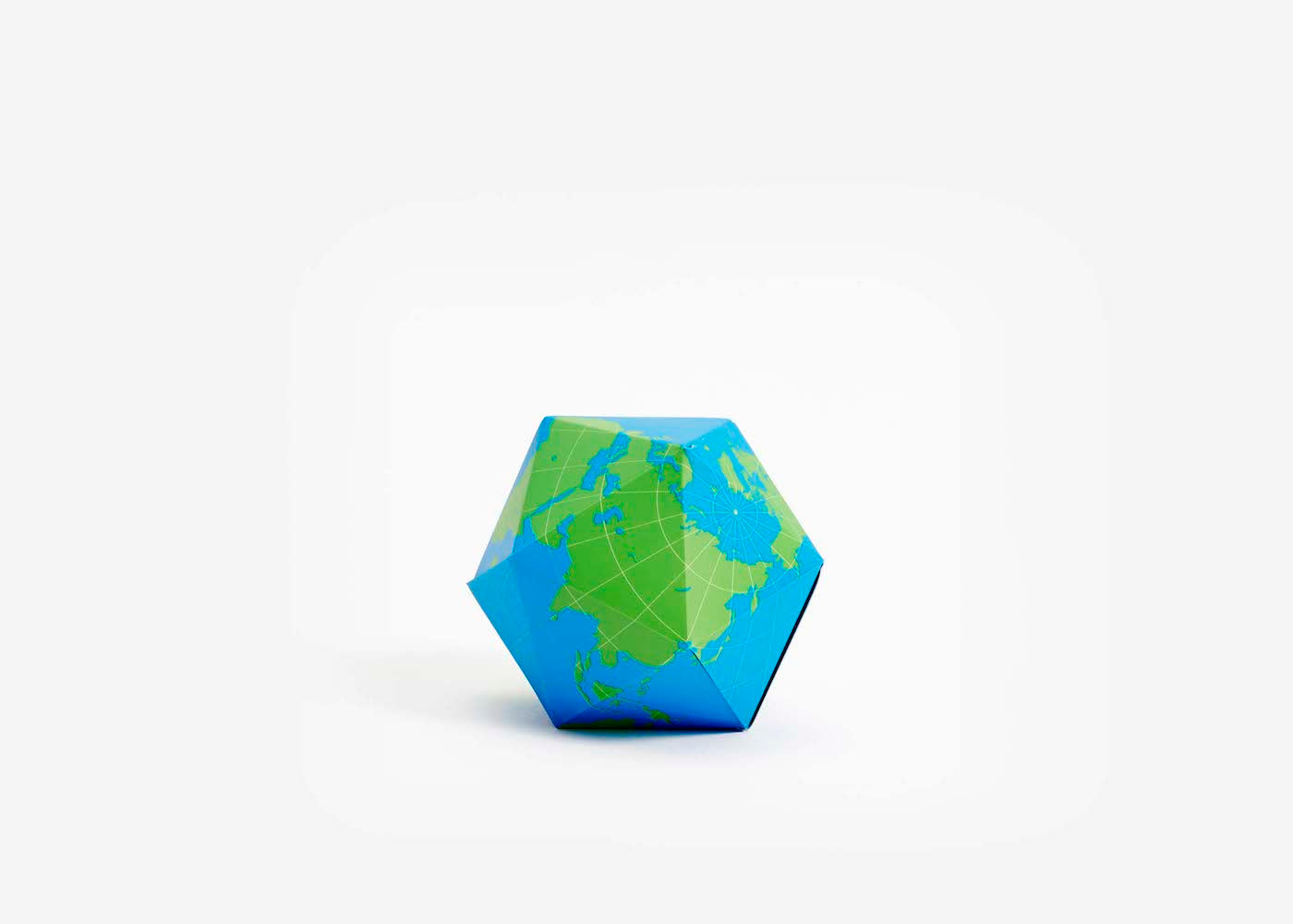 Dymaxion Globe - Blue/Green