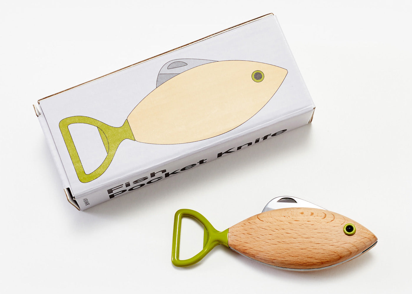 Fish Pocket Knife - Seaweed - Green