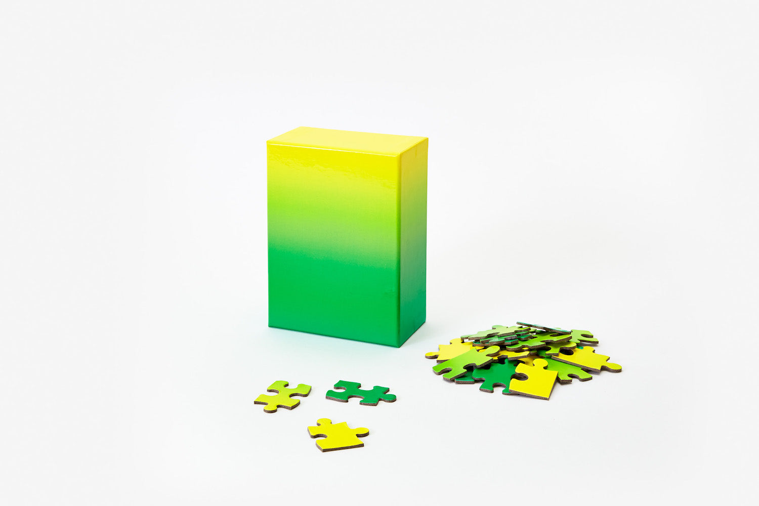 Gradient Puzzle - Small - Green/Yellow