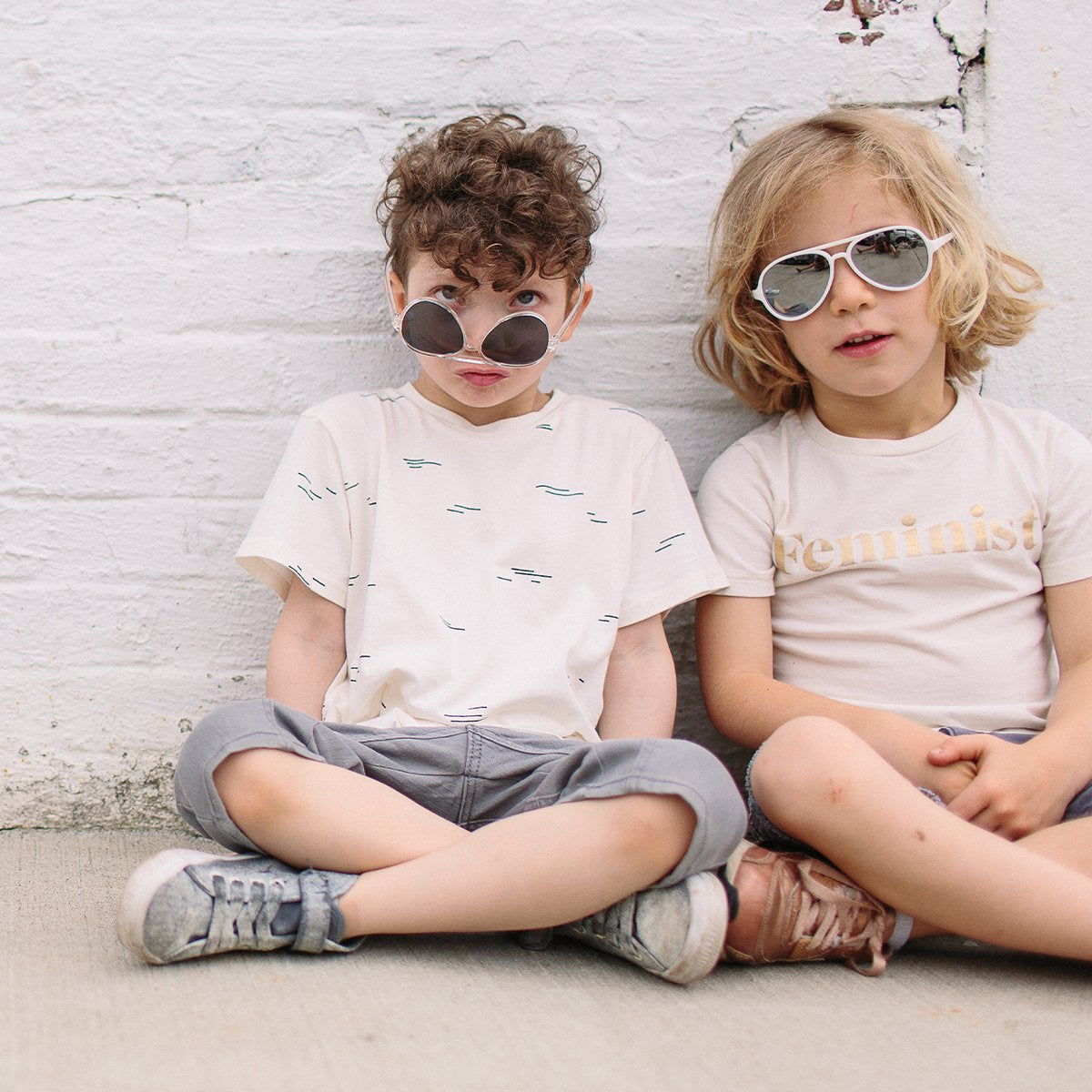 Hipsterkid Classics Aviator Baby Glasses - White (0-2 years)