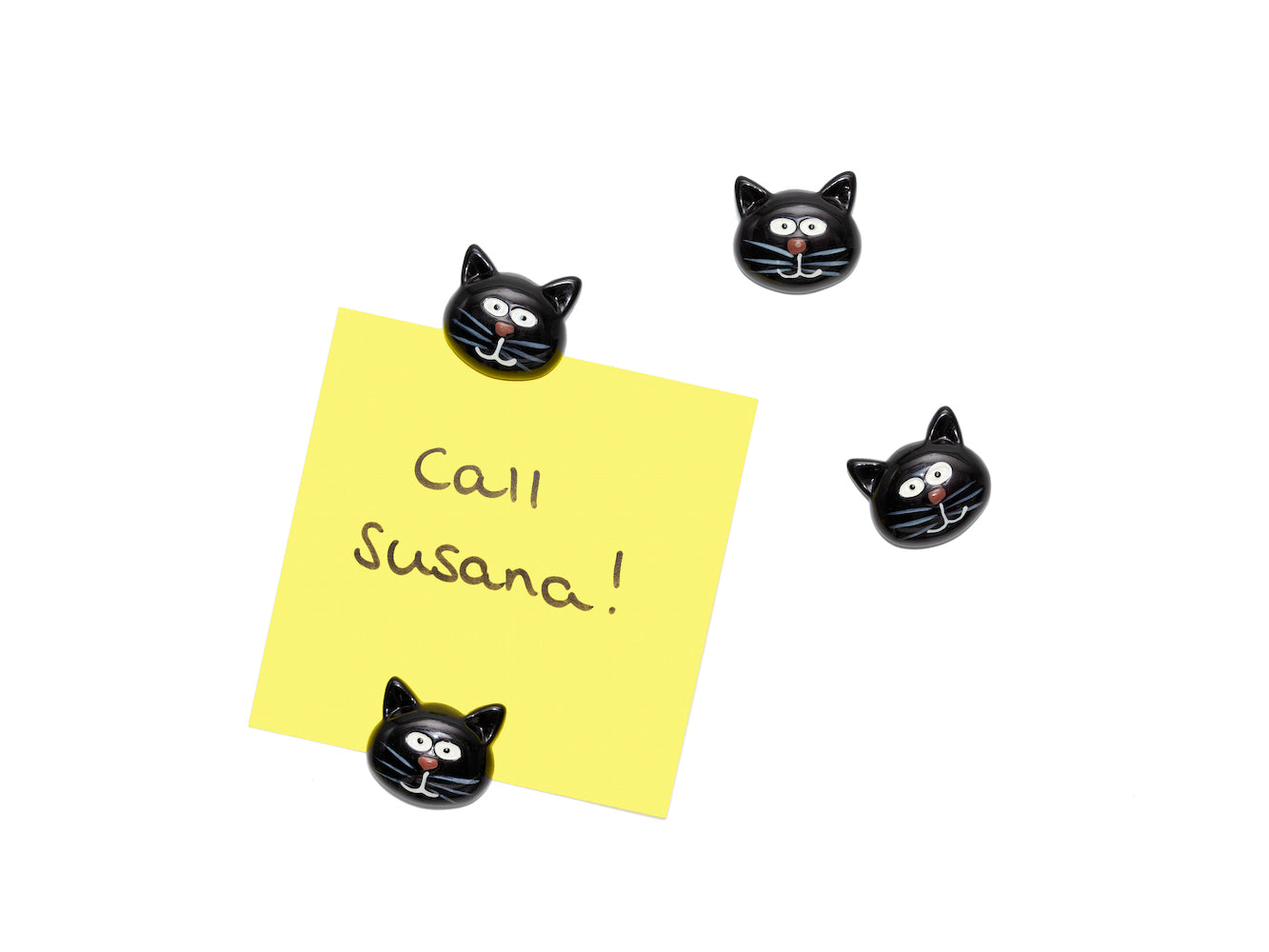 Set of 4 Magnets - Cat