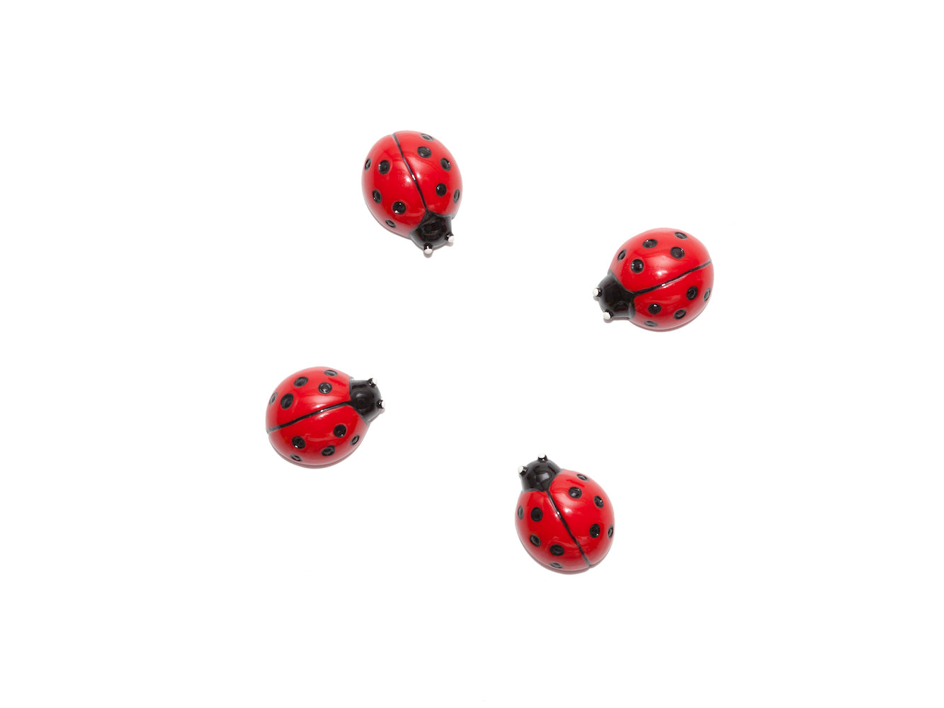 Set of 4 Magnets - Ladybug