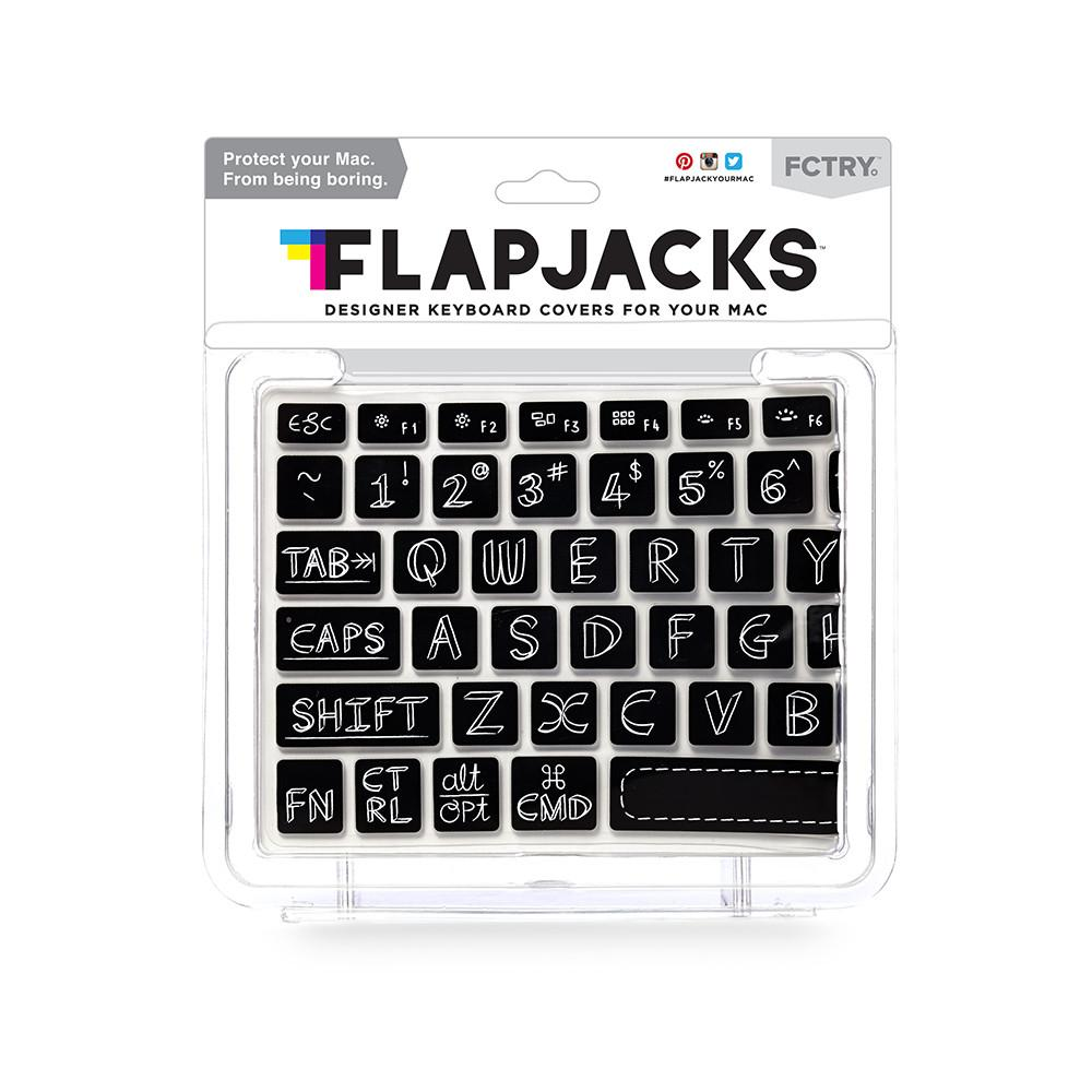 Flapjacks - Keyboard Cover Mac - Black Chalkboard - Azerty