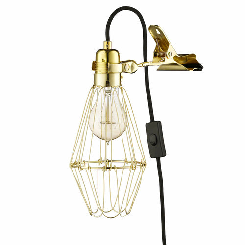 Work Lamp de Lux - Brass