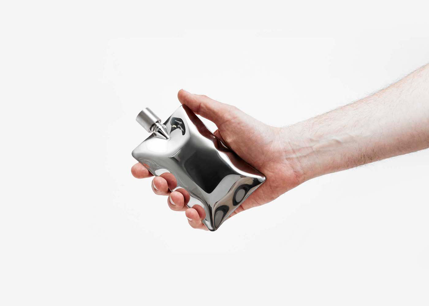 Liquid Body Flask - Silver