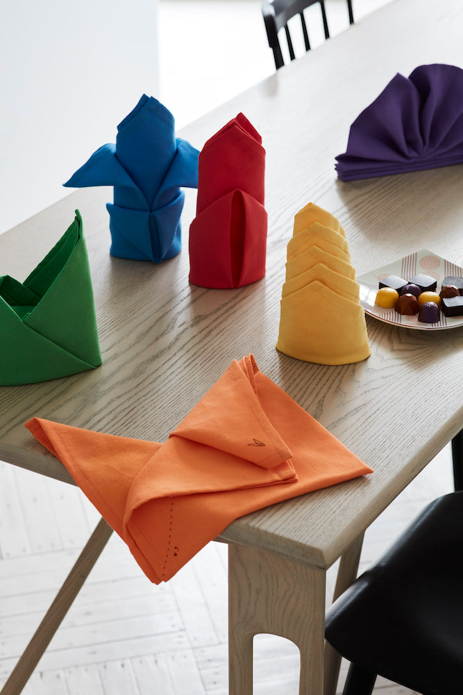 Fold-by-Number Cloth Napkins - Set of 6