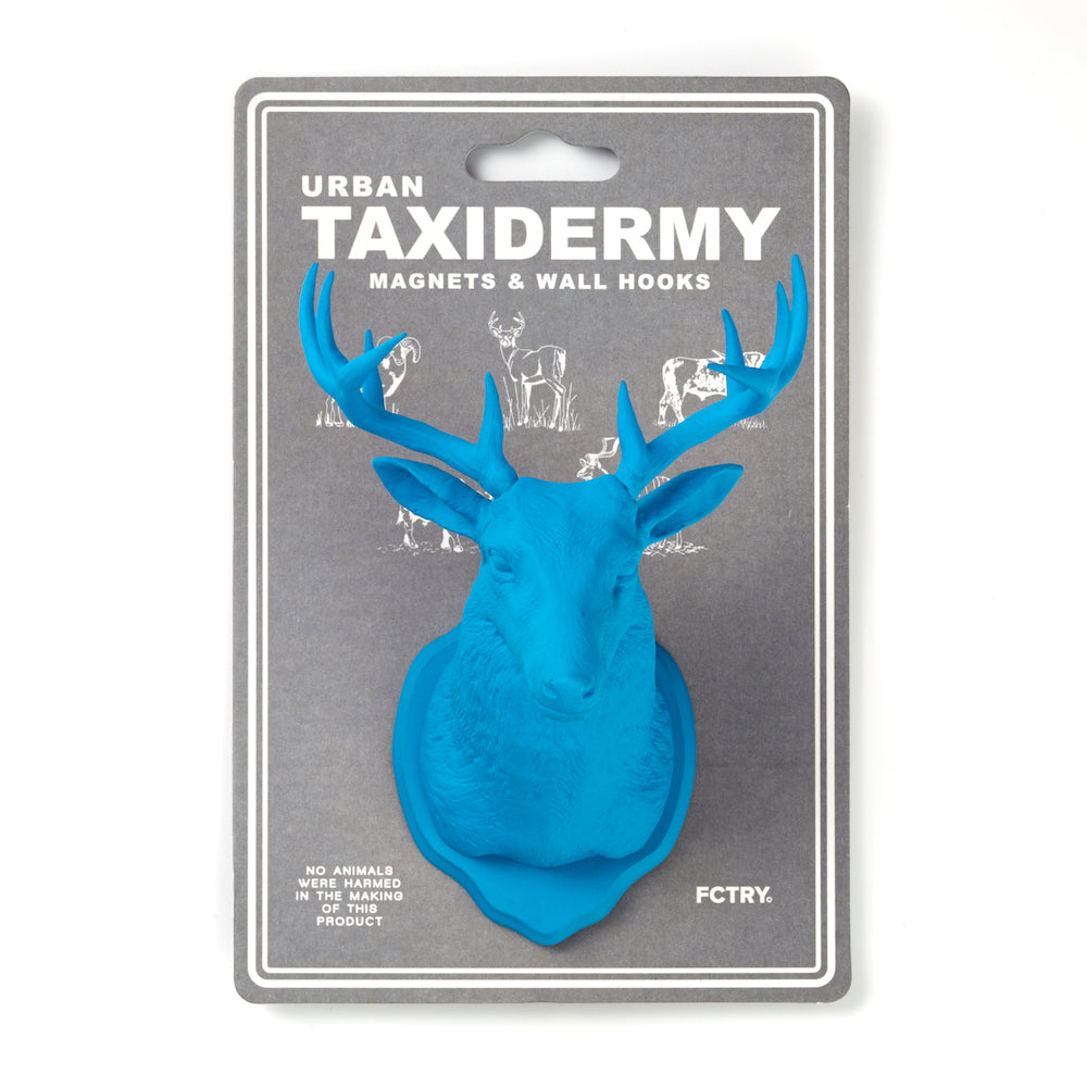 Urban Taxidermy - Magnet & Wall Hook - Blue