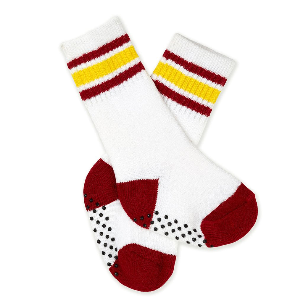 Knee-High Baby Socks - Athletic Red