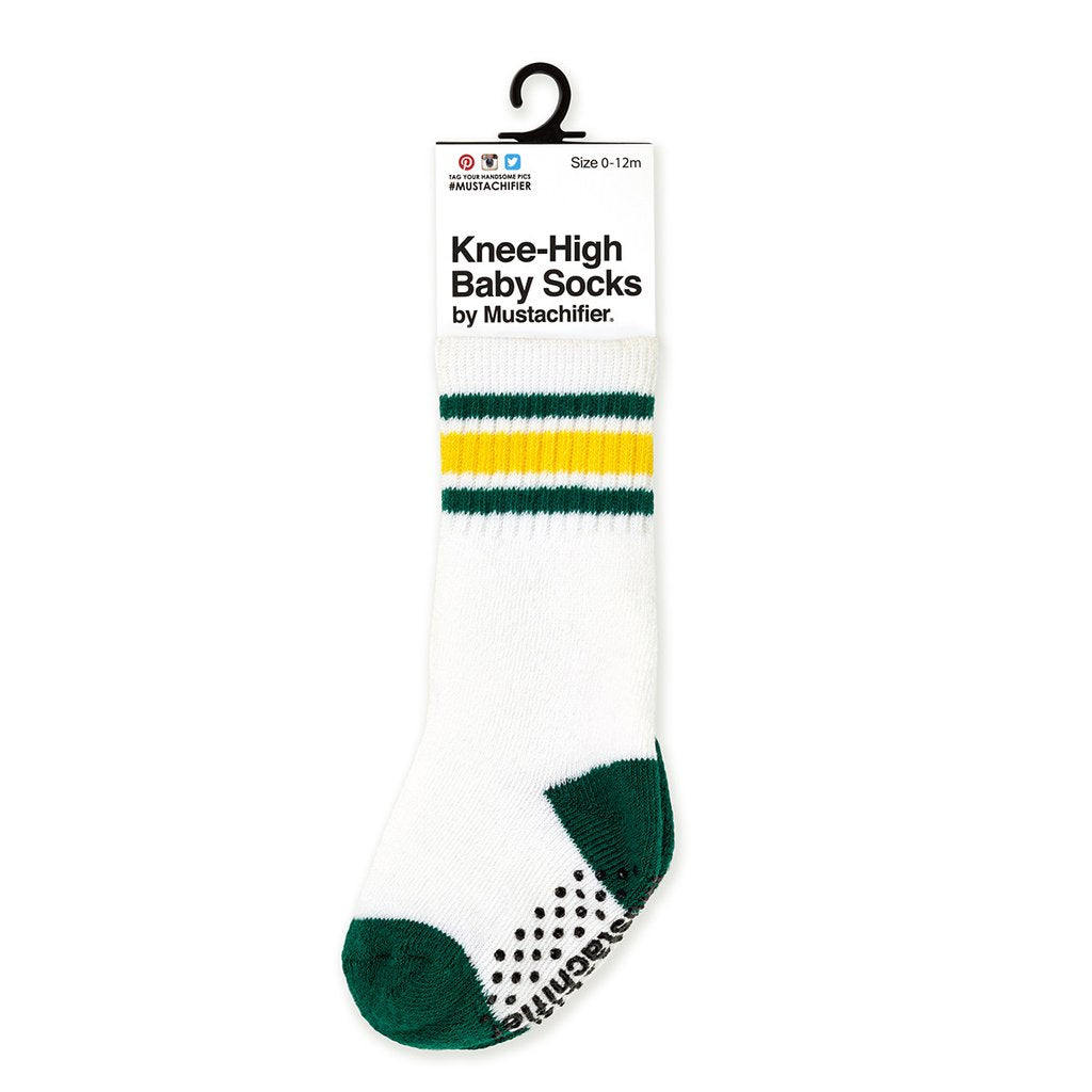 Knee-High Baby Socks - Athletic Green