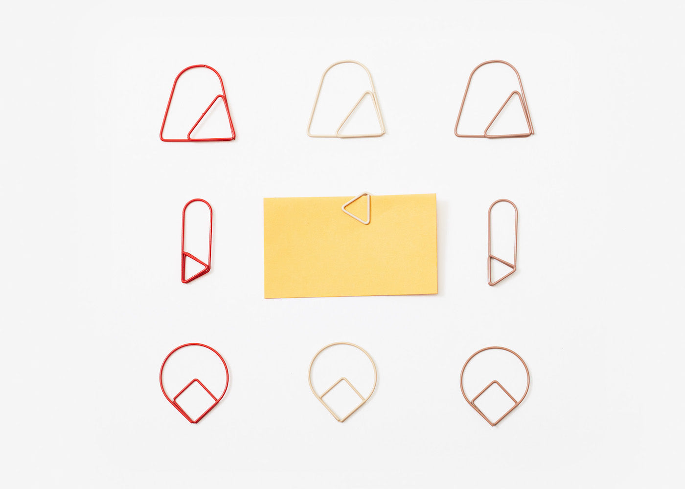 Paper Clips - Red - Set of 9