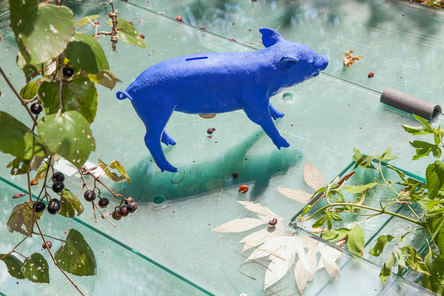Reality Bank in the form of a Pig - Ultramarine