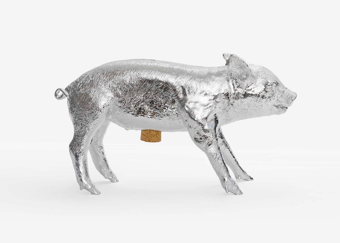 Reality Bank in the form of a Pig - Chrome