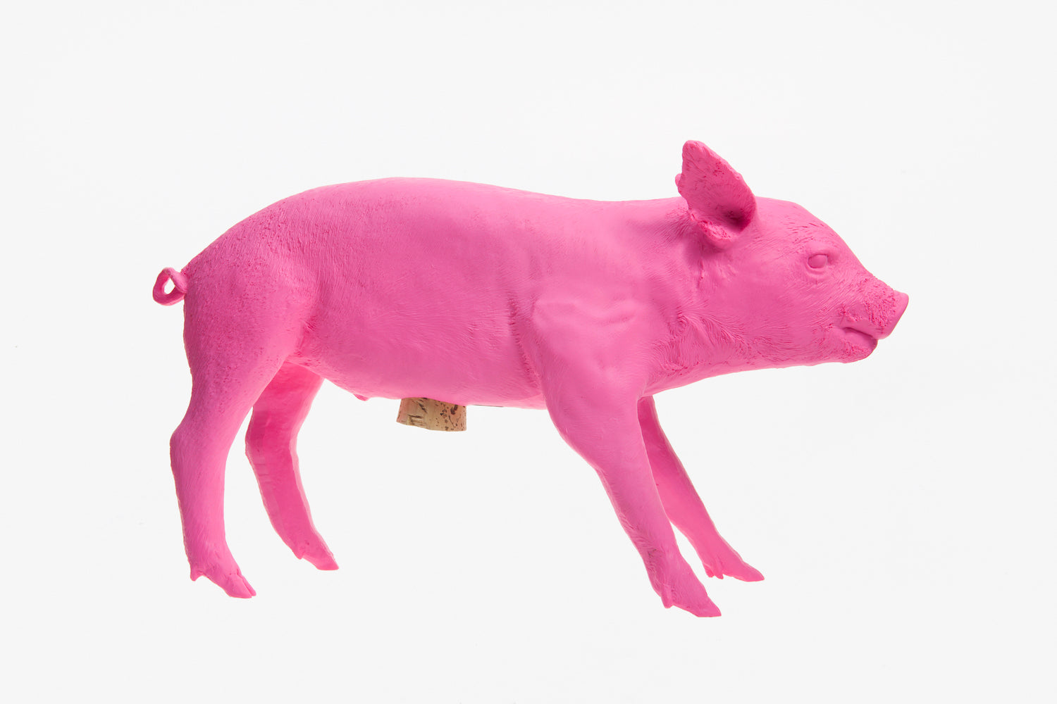 Reality Bank in the form of a Pig - Fluorescent Pink
