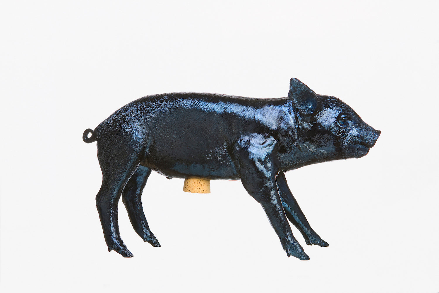 Reality Bank in the form of a Pig - Navy Blue Chrome