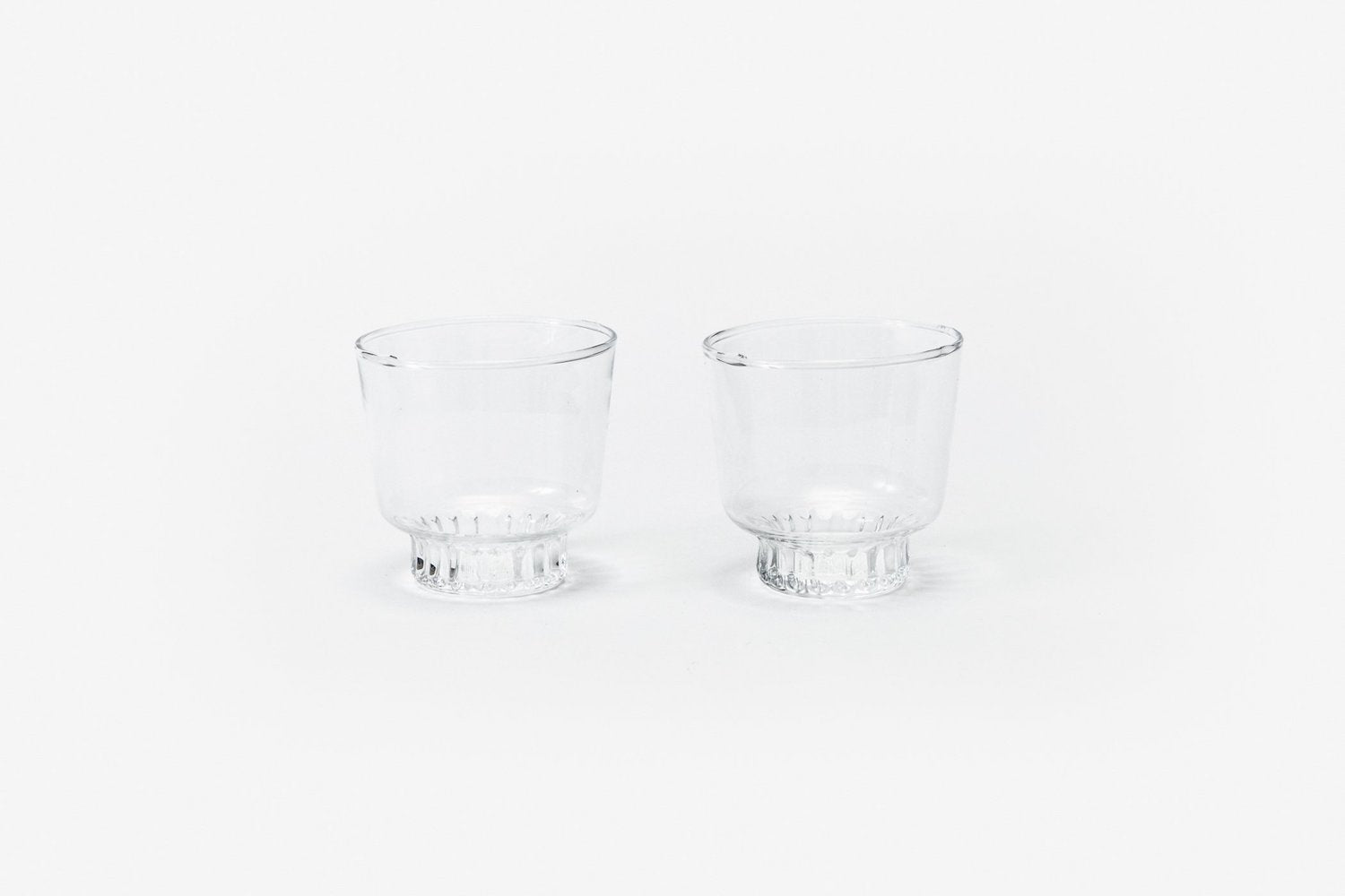 Ridge Kitchen Glasses - Set of 2 - Clear