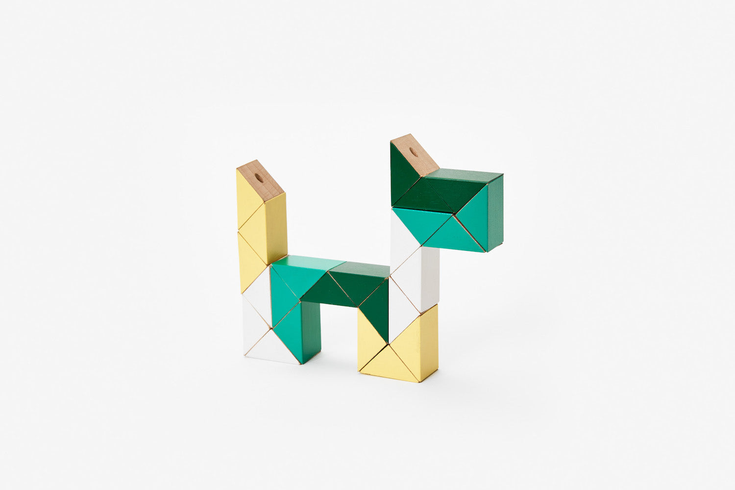 Snake Blocks - Medium - Yellow/Green
