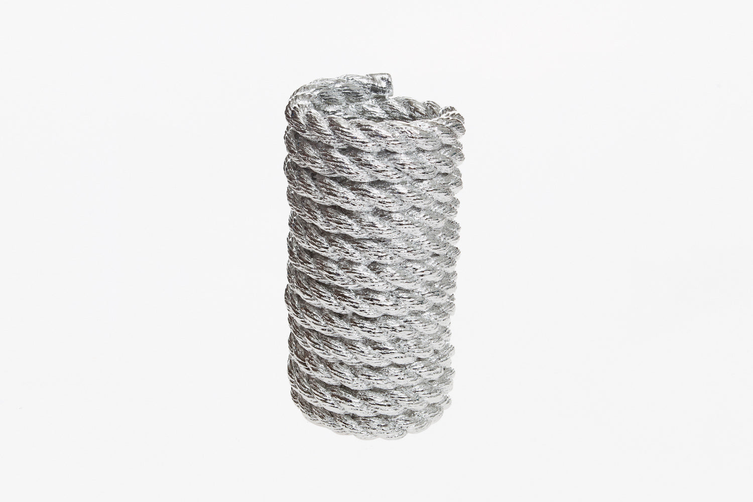 Vase Coil Rope - Chrome