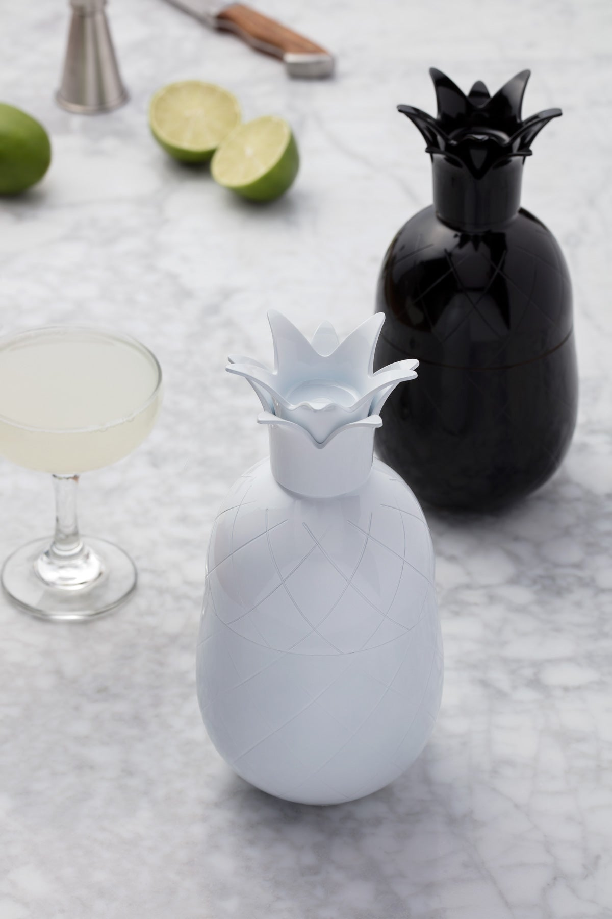 Pineapple Cocktail Shaker - White