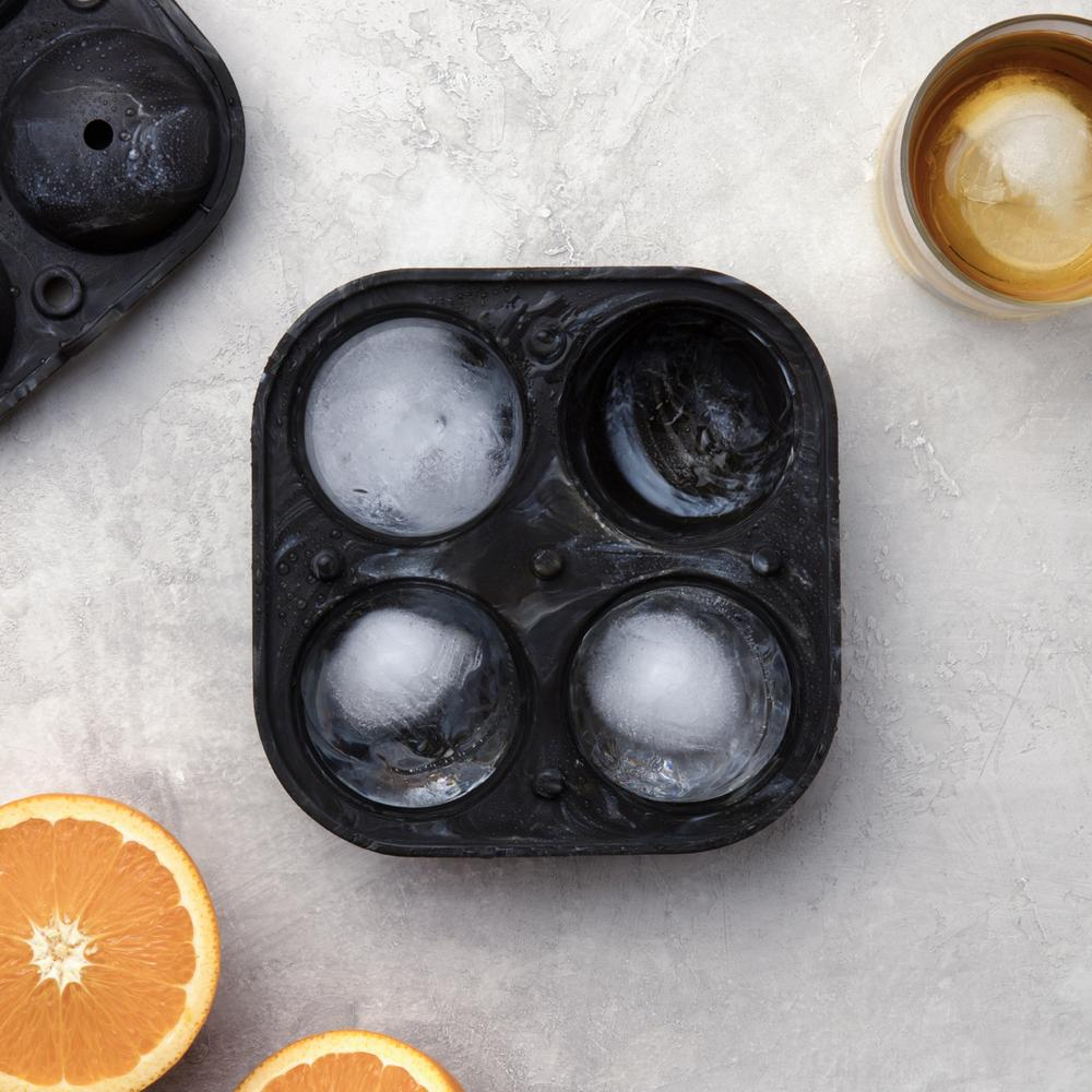 Sphere Ice Mold - Marble Black