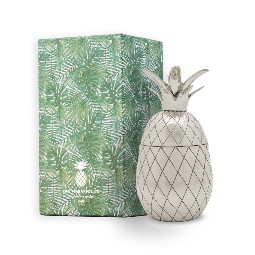 Pineapple Tumbler - 12 oz - Silver