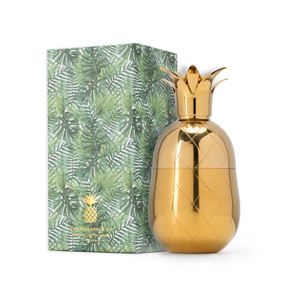 Pineapple Cocktail Shaker - Gold