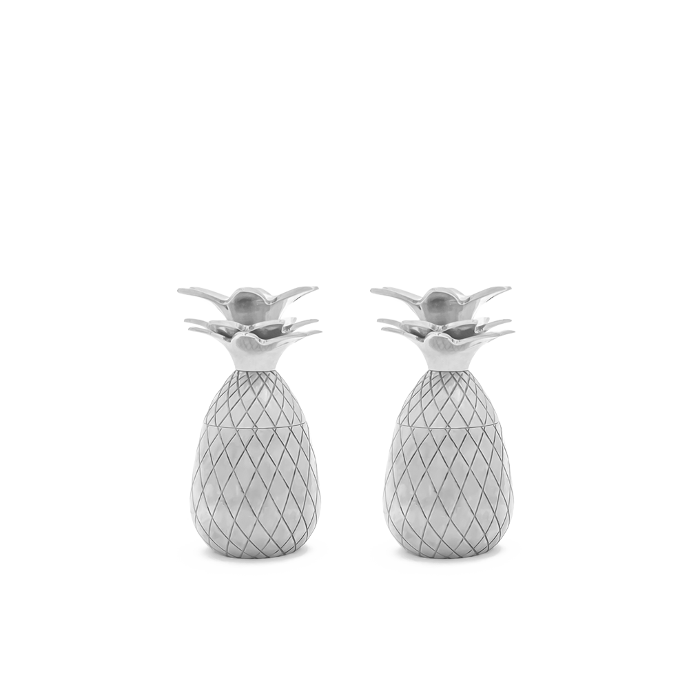 Pineapple Shot Glasses - Set of 2 - Silver