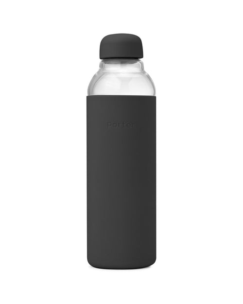 Porter - Water Bottle Glass - Charcoal