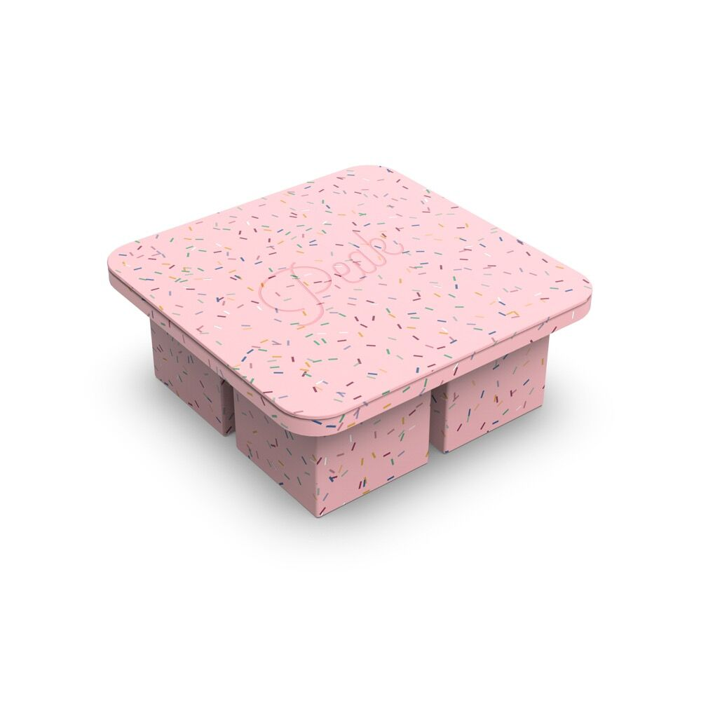Extra Large Ice Cube Tray - Speckled Pink