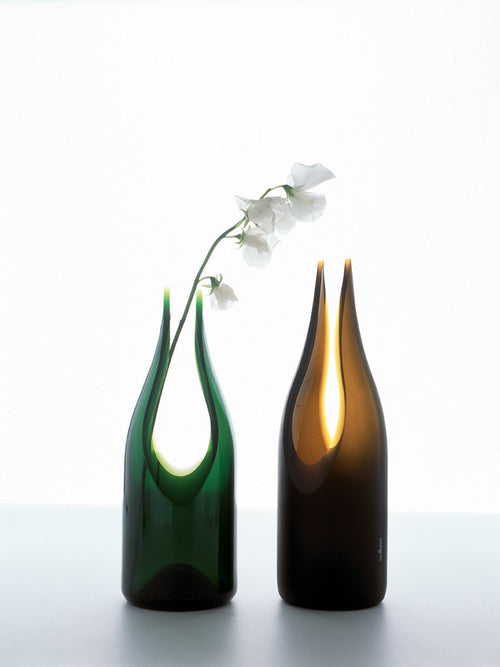 tranSglass - Cut Vase - Satin