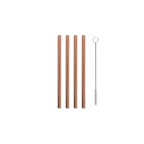 Porter Metal Straws - 12.7 cm - Set of 4 - Copper