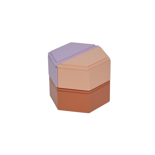 Honeycomb Stacking Boxes - Warm - Pink/Purple