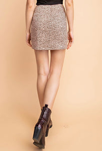 LAYNA LEOPARD MINI SKIRT
