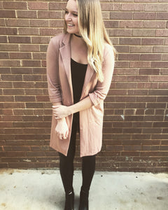 Blush Long Blazer