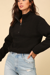 WARM WISHES SHERPA PULLOVER