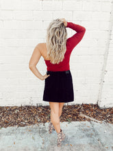 BIANCA ONE SLEEVE BODYSUIT - CRIMSON