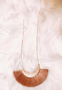 LILY TASSEL NECKLACE- MULTIPLE COLORS