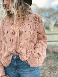 GET COZY SWEATER-ROSE