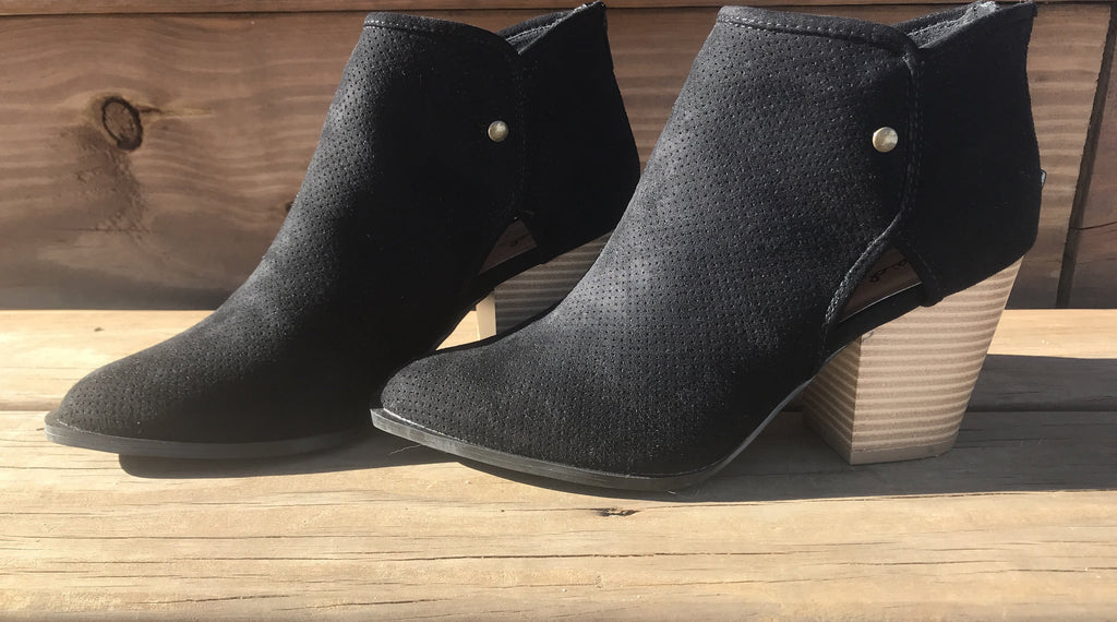 Avery Black Booties