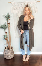 CHANDLER DRAPE JACKET-OLIVE